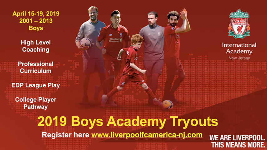 Liverpool International Boys Tryouts