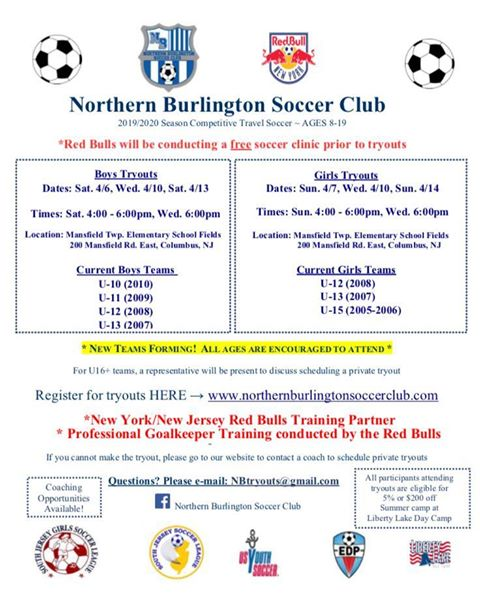 NorthernBurlington Tryouts